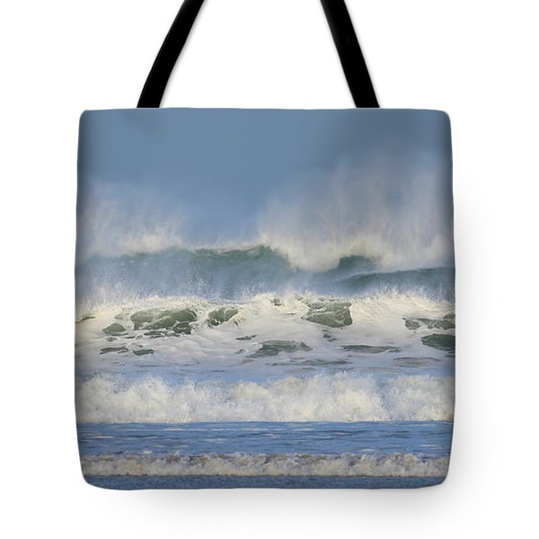 Wind Swept Waves Tote Bag by Nicholas Burningham