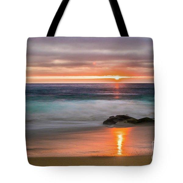 Windansea Beach At Sunset Tote Bag