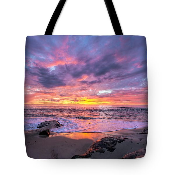 Windansea Beach Sunset Tote Bag