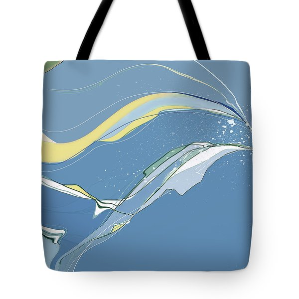 Tote Bag featuring the digital art Windblown by Gina Harrison
