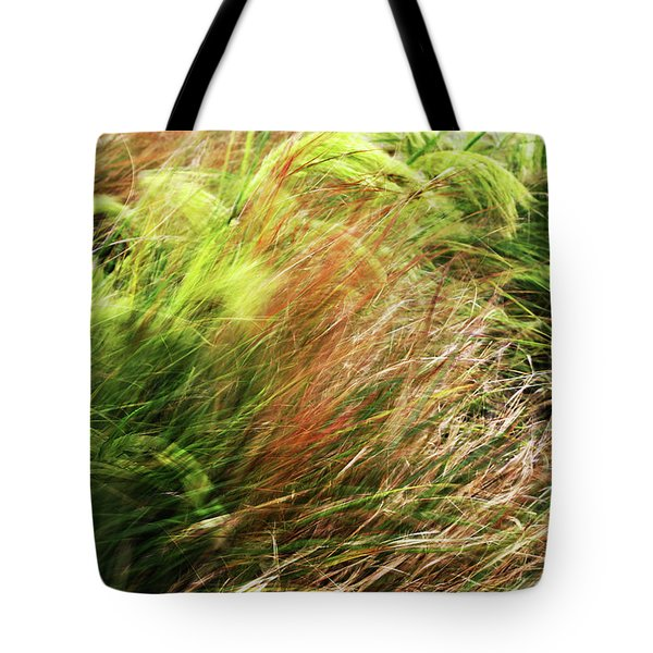 Windblown Grasses Tote Bag by Nareeta Martin