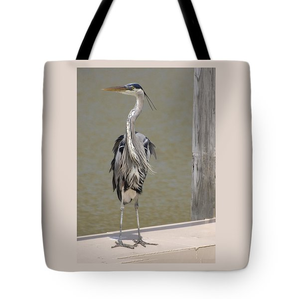 Windblown Heron Tote Bag