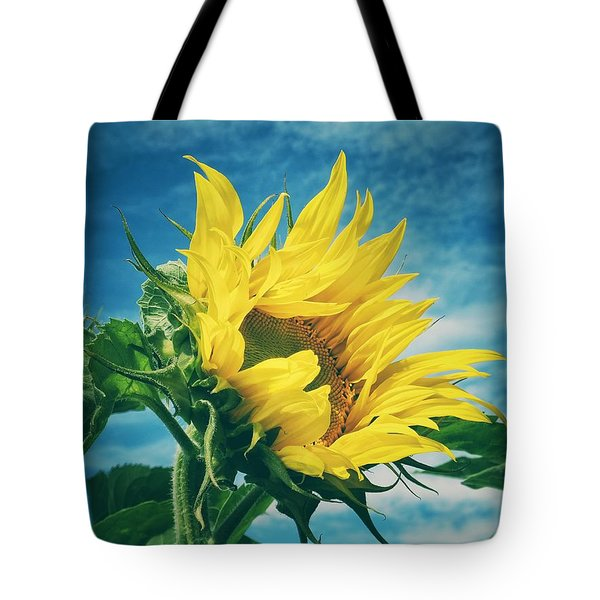 Tote Bag featuring the photograph Windblown  by Karen Stahlros