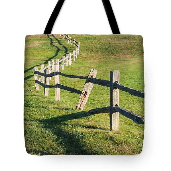 Winding Fences Tote Bag