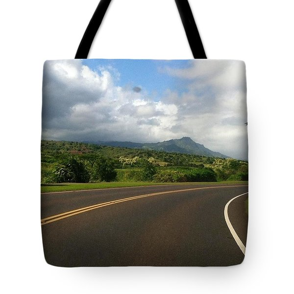 Tote Bag featuring the photograph Winding Road  by Alohi Fujimoto
