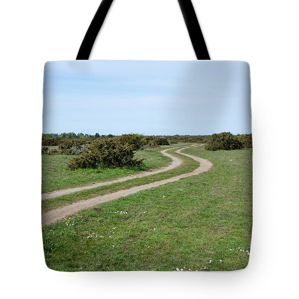 Tote Bag featuring the photograph Winding Tracks by Kennerth and Birgitta Kullman
