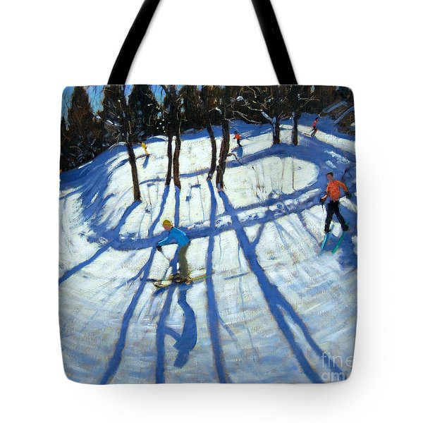 Winding Trail Morzine Tote Bag by Andrew Macara