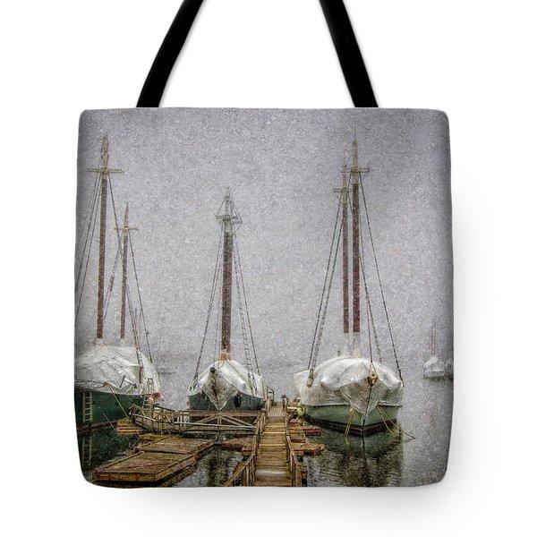 Windjammers In Winter Tote Bag