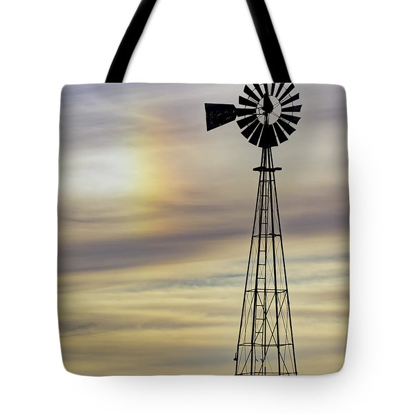 Windmill And Sun Dog Tote Bag