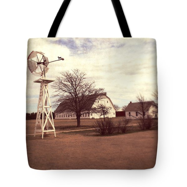 Tote Bag featuring the photograph Windmill At Cooper Barn by Julie Hamilton