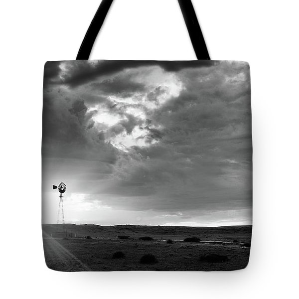 Tote Bag featuring the photograph Windmill At Sunset by Monte Stevens