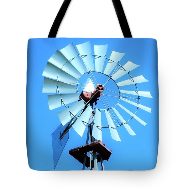 Tote Bag featuring the photograph Windmill - Bright Sunny Day by Ray Shrewsberry