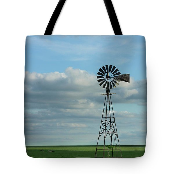 Tote Bag featuring the photograph Windmill by E B Schmidt