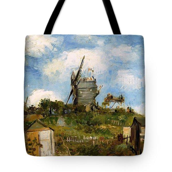 Windmill In Farm Tote Bag