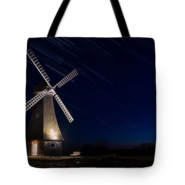 Windmill In The Night Tote Bag