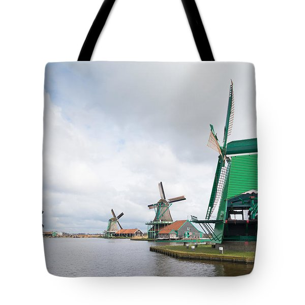 Tote Bag featuring the photograph Windmill Landscape by Hans Engbers