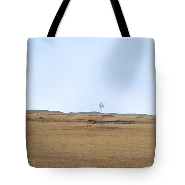 Windmill On The Colorado Range Tote Bag