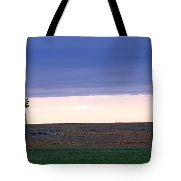 Windmill On The Prairie Tote Bag