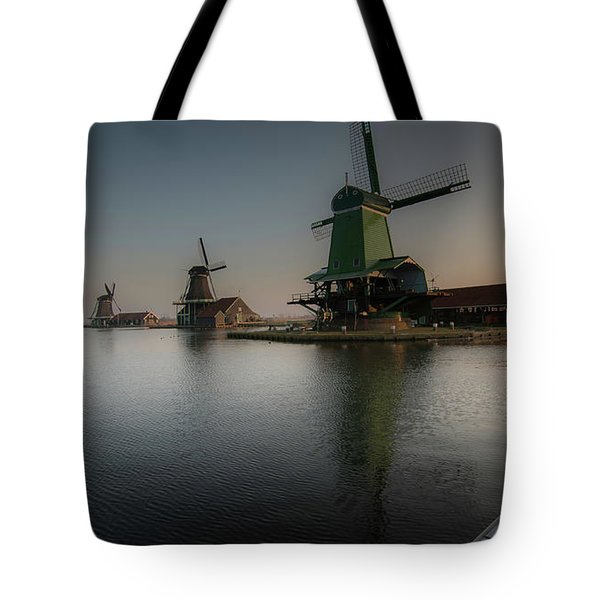 Windmill Sunrise Tote Bag