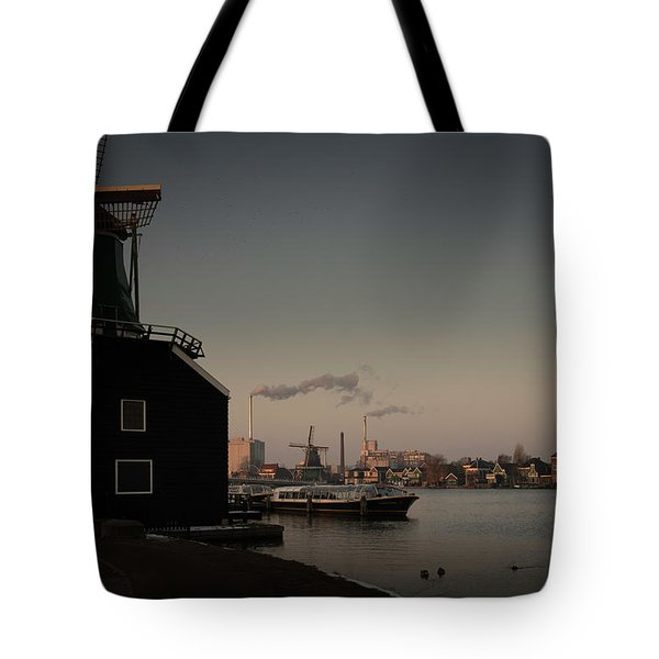 Windmill Town Tote Bag