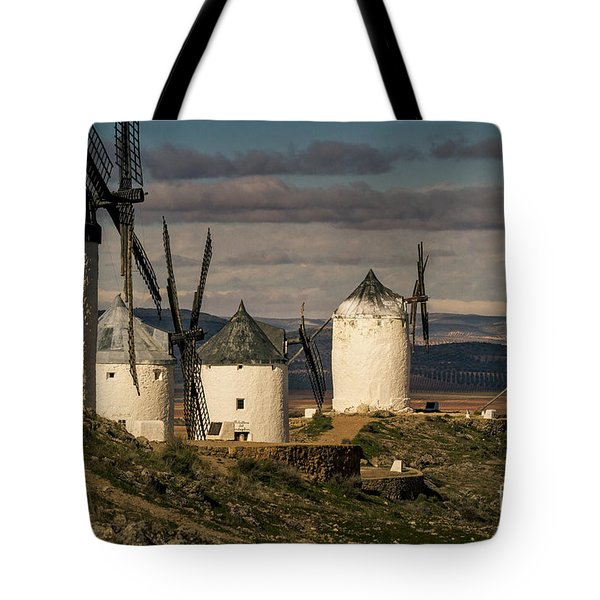 Tote Bag featuring the photograph Windmills Of La Mancha by Heiko Koehrer-Wagner