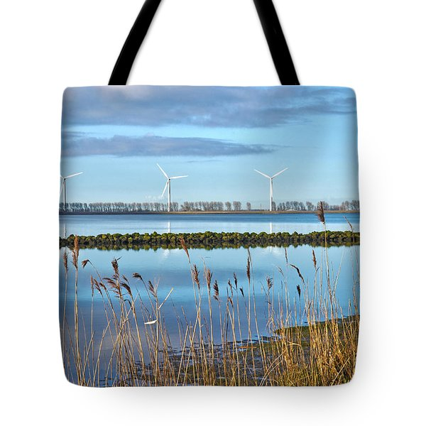 Windmills On A Windless Morning Tote Bag by Frans Blok