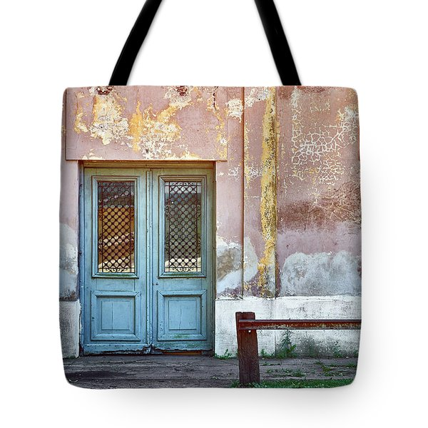 Tote Bag featuring the photograph Window And Door Of Old Train Station by Eduardo Jose Accorinti