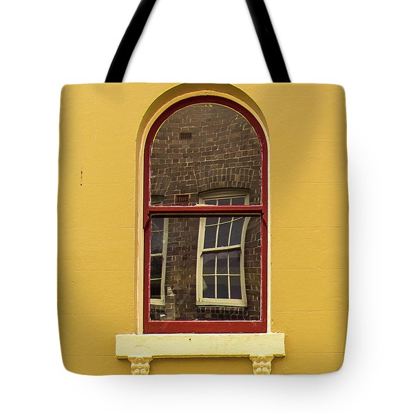Tote Bag featuring the photograph Window And Window 2 by Perry Webster