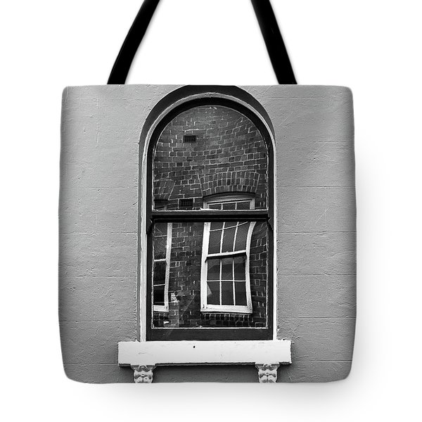 Tote Bag featuring the photograph Window And Window by Perry Webster