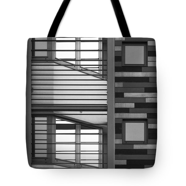 Vertical Horizontal Abstract Tote Bag by Wendy Wilton