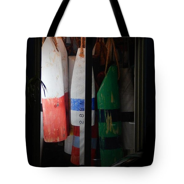 Window Buoys Key West Tote Bag