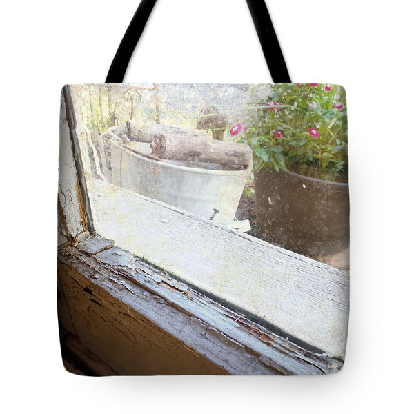 Window By The Garden Tote Bag by Scott Kingery