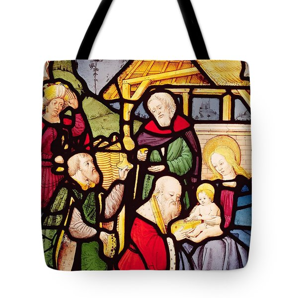 Window Depicting The Adoration Of The Magi Tote Bag by French School