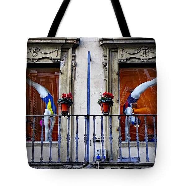 Window Dressing 2 In Florence Italy Tote Bag