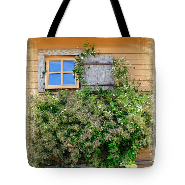 Tote Bag featuring the photograph Window Floral In Plymouth by Joan  Minchak