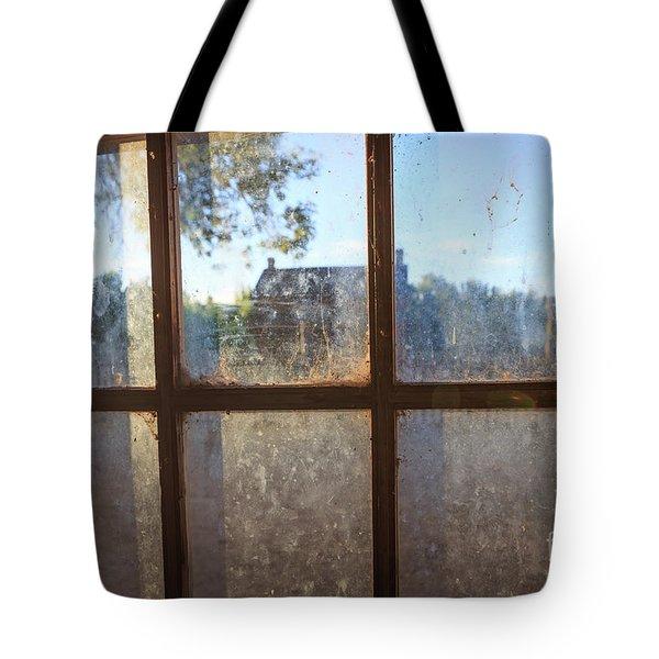 Window Grafton Ghost Town Tote Bag