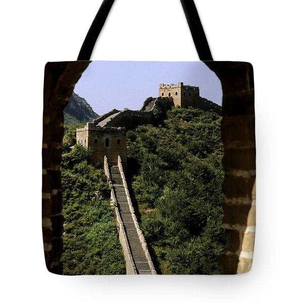 Window Great Wall Tote Bag by Bill Bachmann - Printscapes
