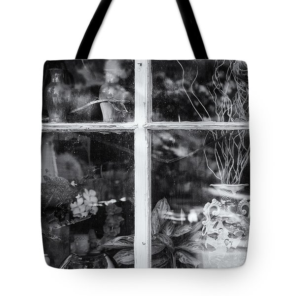 Window In Black And White Tote Bag