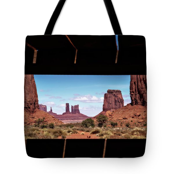Window Into Monument Valley Tote Bag by Eduard Moldoveanu