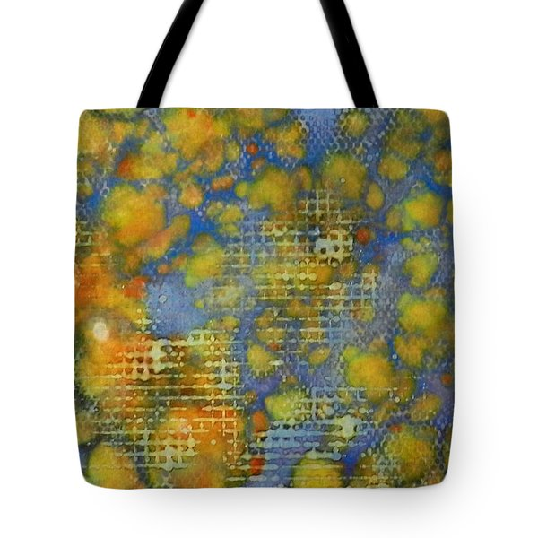 Tote Bag featuring the painting Window Into Summer Ink #17 by Sarajane Helm