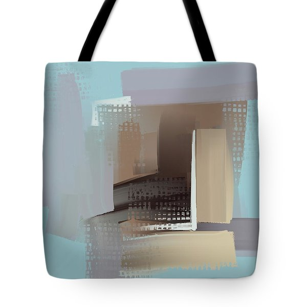 Tote Bag featuring the mixed media Window Morning View by Eduardo Tavares