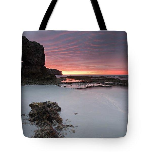 Window On Dawn Tote Bag by Mike  Dawson