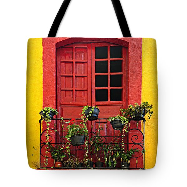 Window On Mexican House Tote Bag