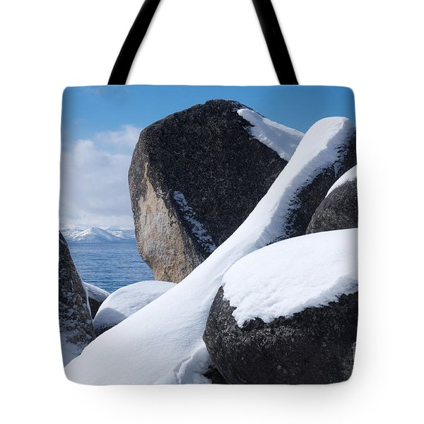 Tote Bag featuring the photograph Window On Tahoe by Vinnie Oakes