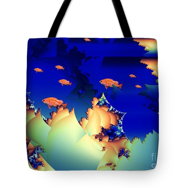 Window On The Undersea Tote Bag by Ron Bissett