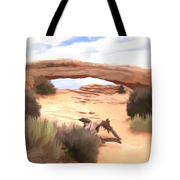 Tote Bag featuring the digital art Window On The Valley by Gary Baird