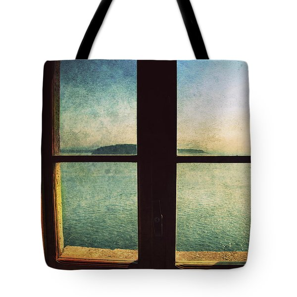 Window Overlooking The Sea Tote Bag