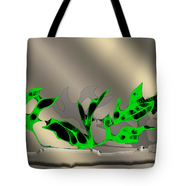 Tote Bag featuring the digital art Window Plant by Asok Mukhopadhyay