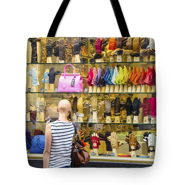 Tote Bag featuring the photograph Window Shopper by Pravine Chester