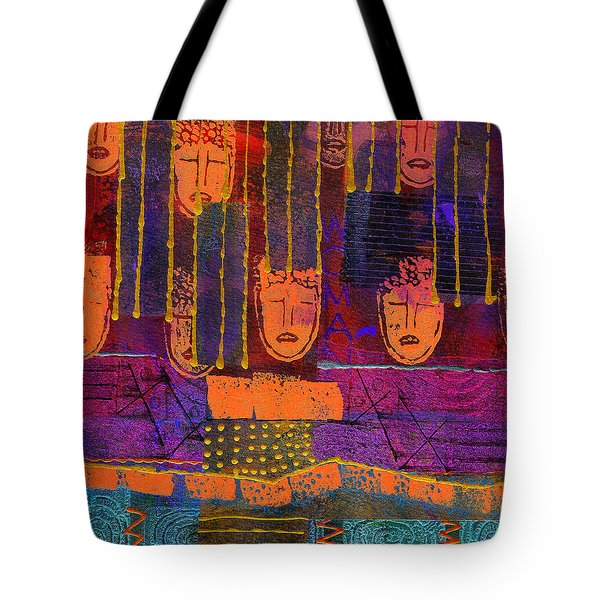 Tote Bag featuring the painting Window Shopping by Angela L Walker